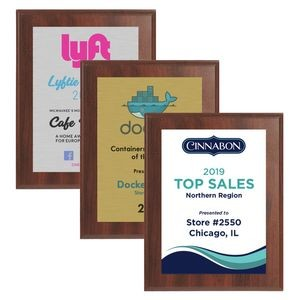 "8"" x 10"" Cherry Finish Plaque w/ Full Color Sublimated Imprint"